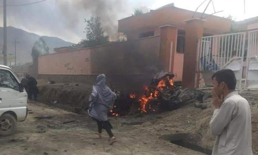 Các vụ nổ nhằm vào trường Sayed ul Shuhada ở phía tây Kabul, thủ đô Afghanistan, hôm 8/5. Ảnh: Ariana News