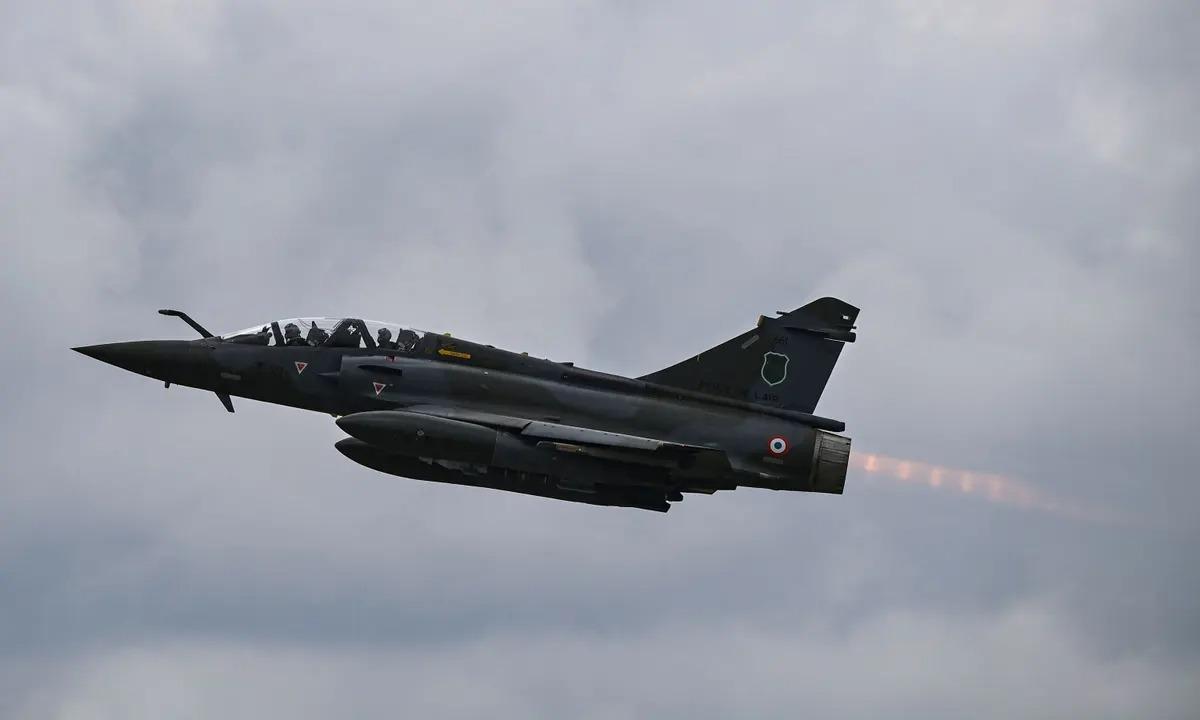 Máy bay chiến đấu Mirage 2000D của lực lượng không quân Pháp. Ảnh: AFP