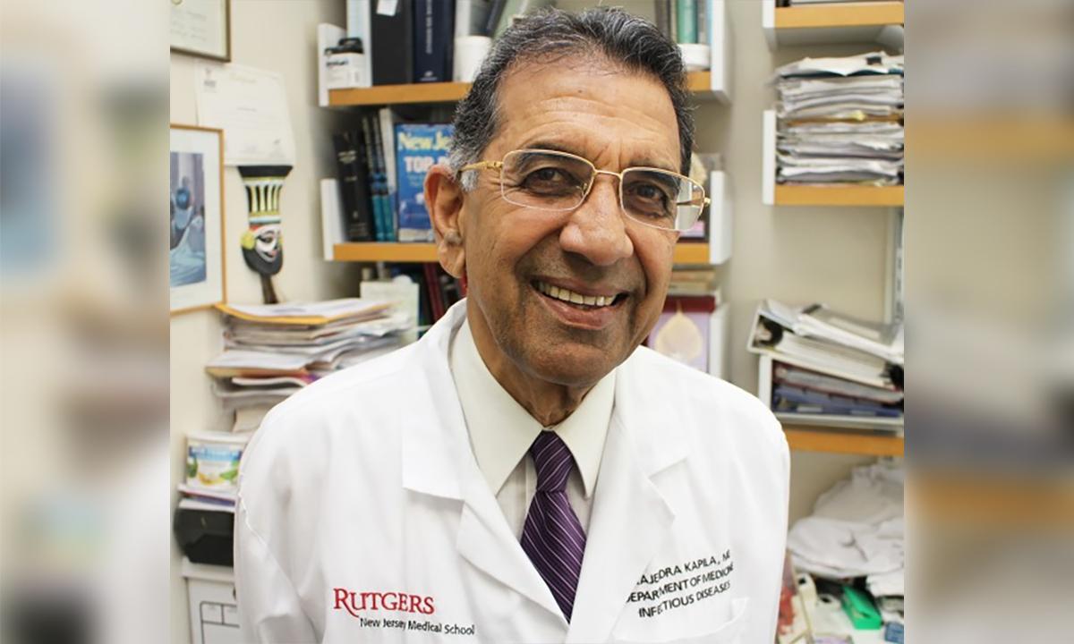 Tiến sĩ Rajendra Kapila. Ảnh: Rutgers.