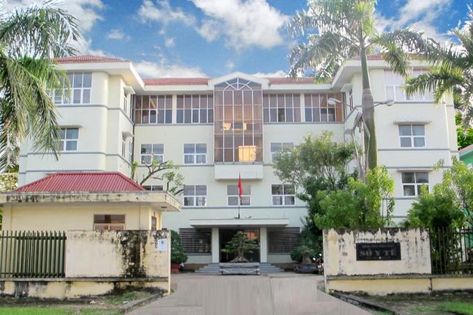 Trụ sở Sở Y tế Vĩnh Phúc, tại phường Đống Đa, TP Vĩnh Yên.