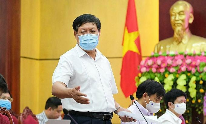 Thứ trưởng Đỗ Xuân Tuyên làm việc tại Bắc Ninh ngày 8/5. Ảnh: Trần Minh.