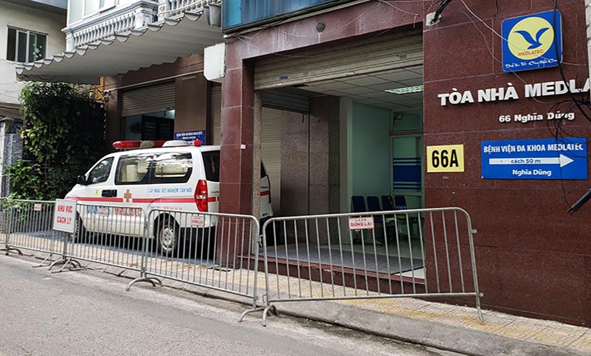 Bệnh viện Medlatec cơ sở Nghĩa Dũng, quận Ba Đình. Ảnh: Hữu Mai.
