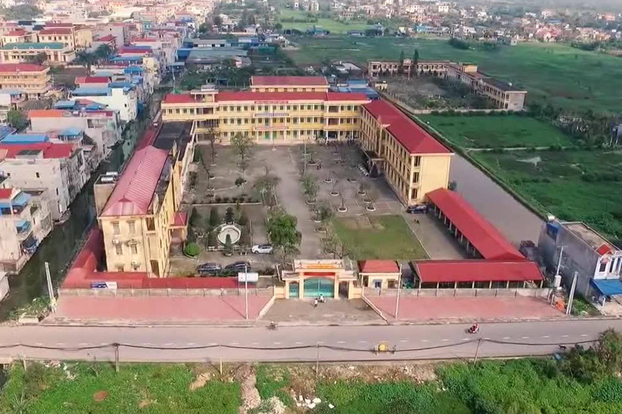 Khuôn viên trường THPT Lê Quý Đôn ở huyện Trực Ninh, Nam ĐỊnh. Ảnh: THPT Lê Quý Đôn.