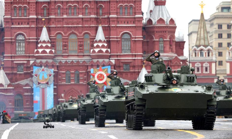 Xe chiến đấu bộ binh BMD-4M của lực lượng đổ bộ đường không Nga. Ảnh: AFP.