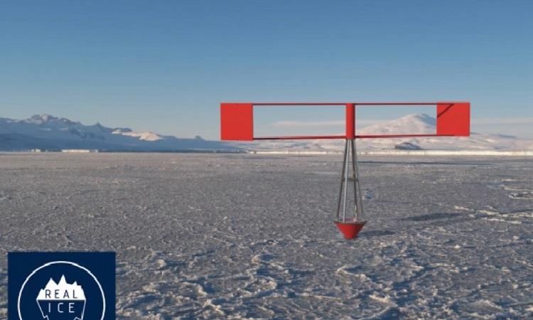 Thiết kế của cỗ máy tái tạo băng vùng cực do công ty Real Ice chế tạo. Ảnh: Real Ice.