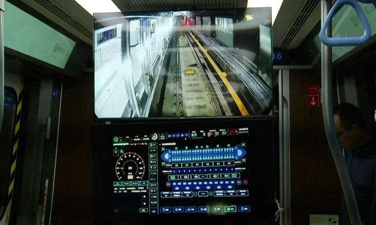Màn hình hiển thị của hệ thống TACS. Ảnh: CGTN.