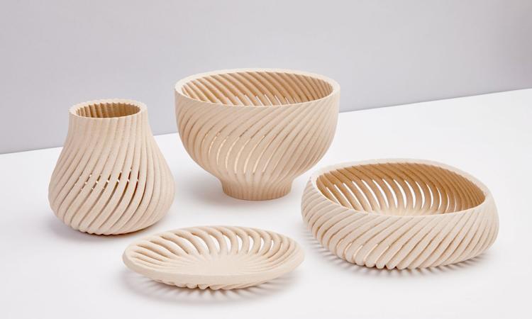 Một số sản phẩm gỗ in 3D dùng trong nhà. Ảnh: Forust.