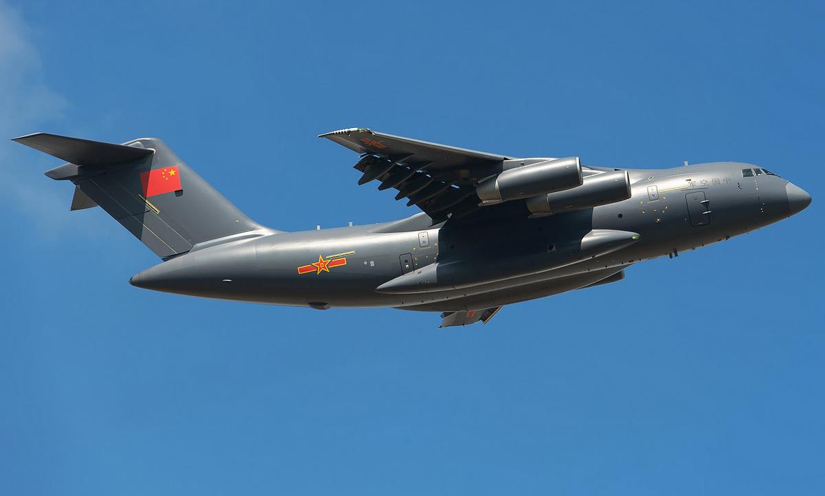 Vận tải cơ Y-20 Trung Quốc bay biểu diễn năm 2016. Ảnh: Airliners.