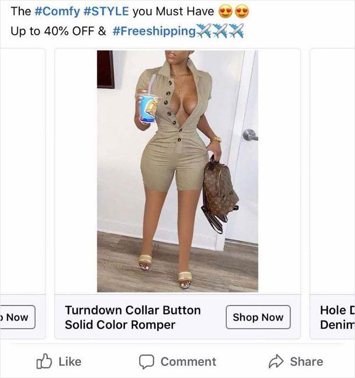 Chắc mọi người không cần thấy đầu gối của cô ấy làm gì, thợ photoshop said.