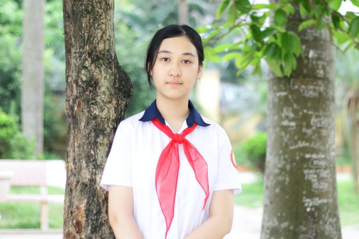 Đào Anh Thư, nữ sinh giành giải nhất cuộc thi Viết thư UPU năm 2021. Ảnh: Bưu điện Việt Nam