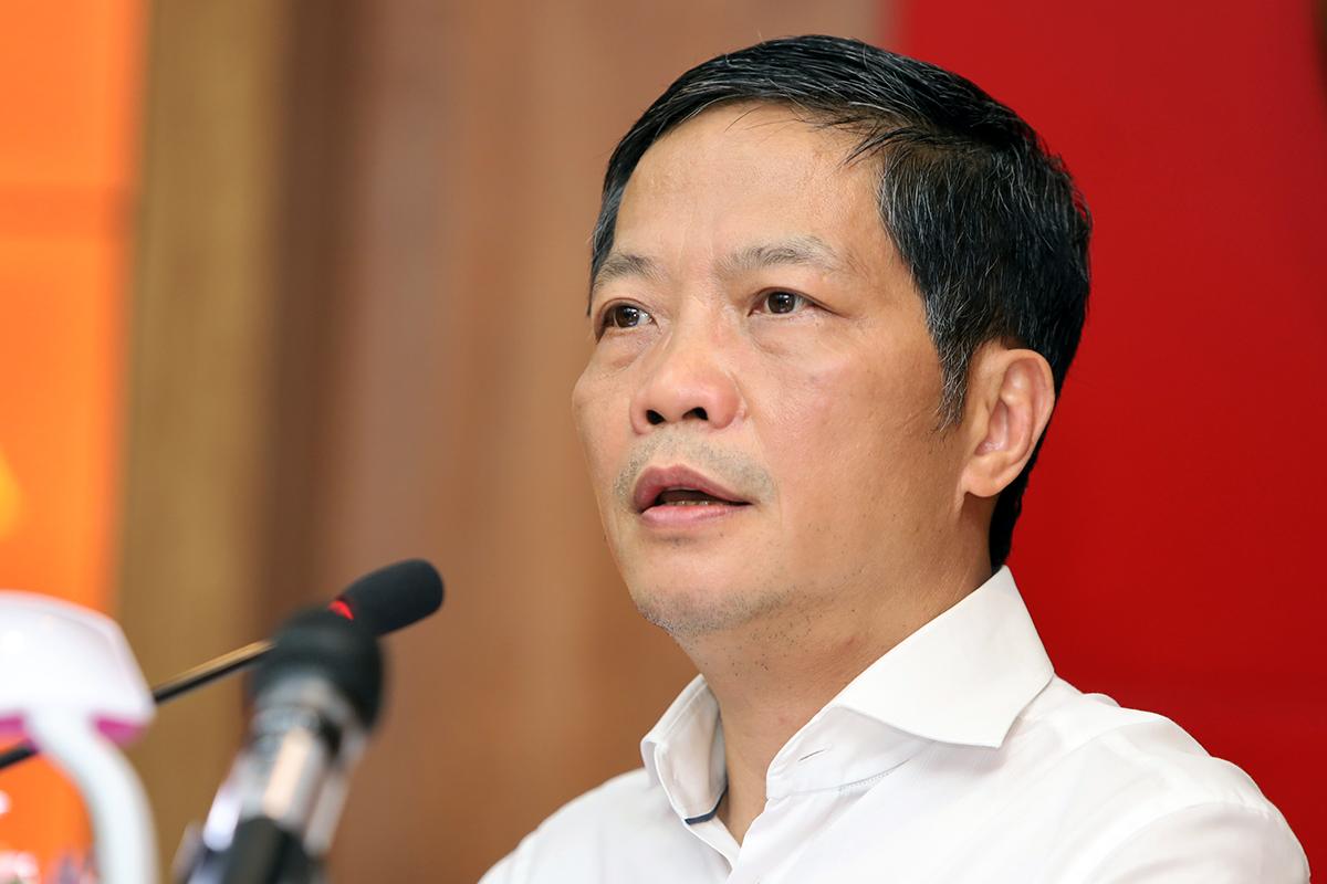 Ông Trần Anh Tuấn, Trưởng Ban Kinh tế Trung ương trong buổi làm việc với tỉnh Khánh Hòa, chiều 11/5. Ảnh: Xuân Ngọc.