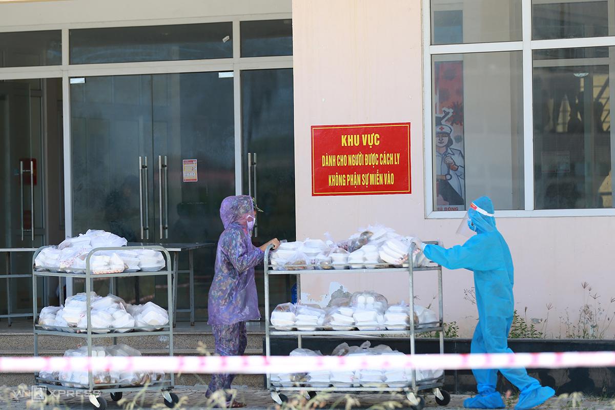 Khung T3 ở xã Phú Thượng nơi cách ly các trường hợp F1. Ảnh: Võ Thạnh