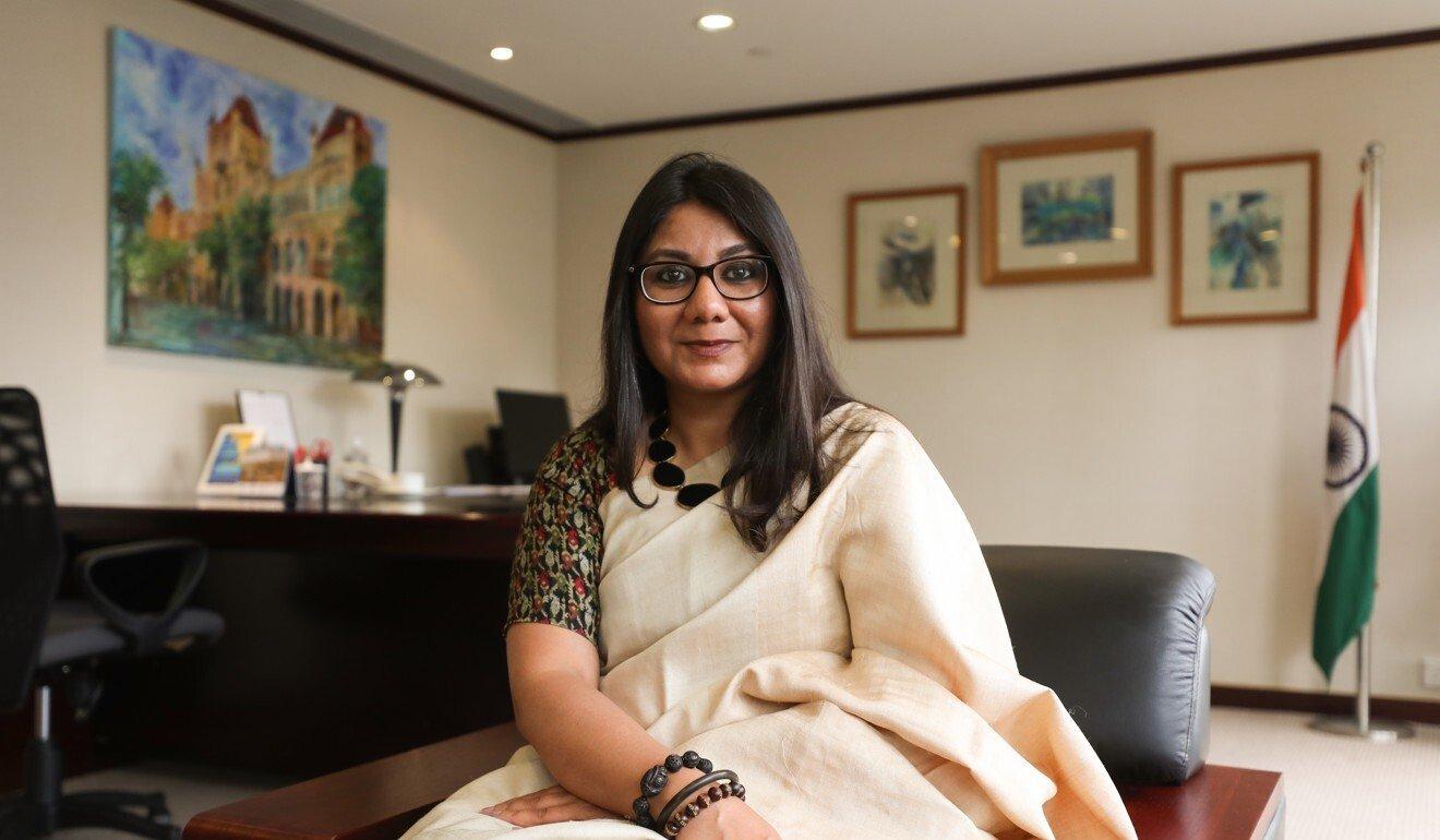 Tổng lãnh sự Ấn Độ tại Hong Kong Priyanka Chauhan. Ảnh: SCMP.