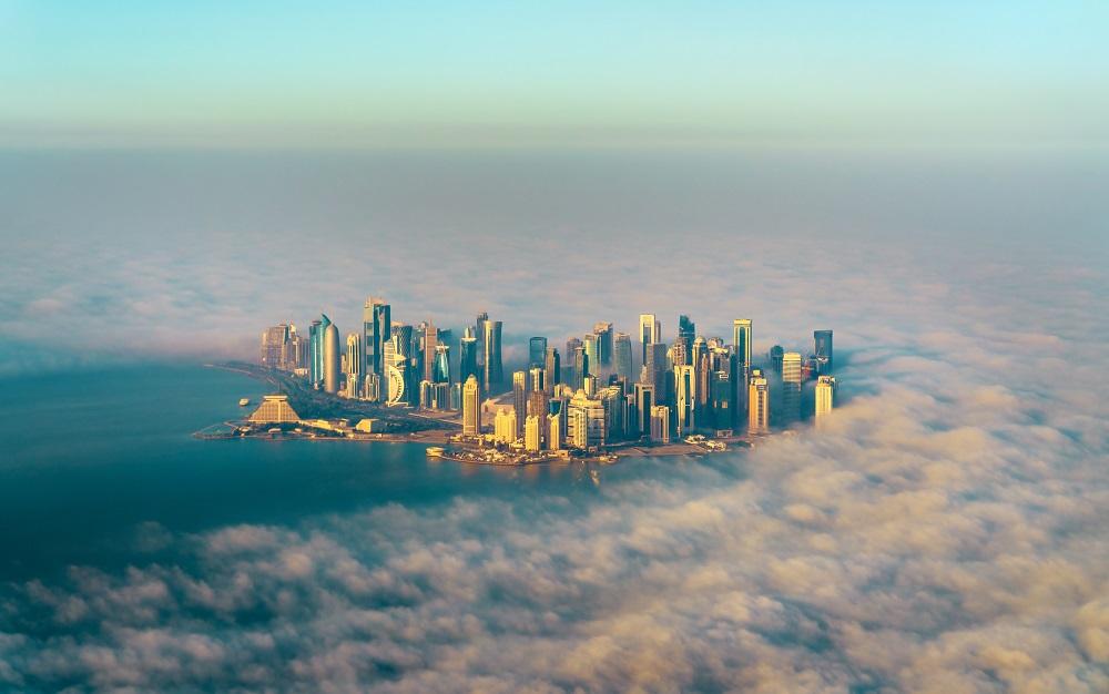Một góc Doha nhìn từ trên cao. Ảnh: Shutterstock.