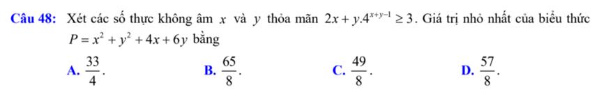 Hàm số mũ - logarit và các câu đại số lớp 11 trong đề tốt nghiệp - 1