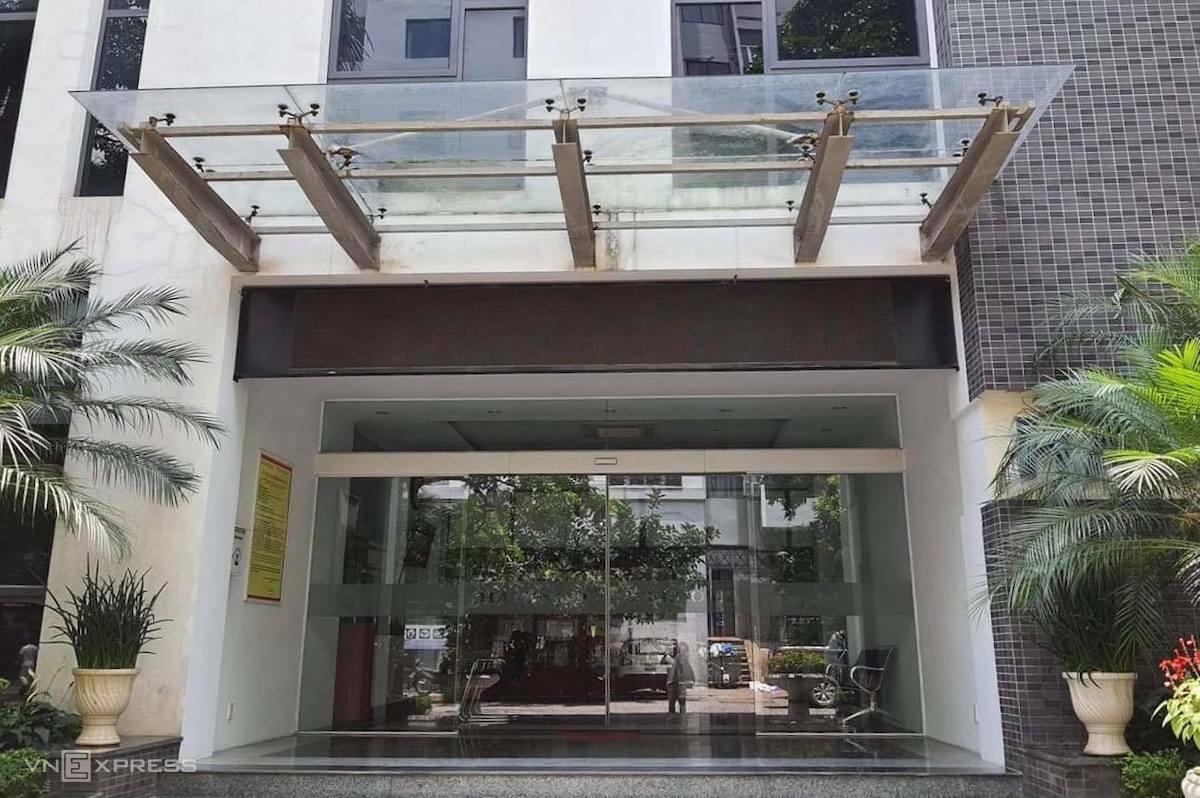 Tòa nhà Hacinco tại 79 Ngụy Như Kon Tum, trụ sở  Công ty Đầu tư xây dựng số 2 Hà Nội. Ảnh: Võ Hải