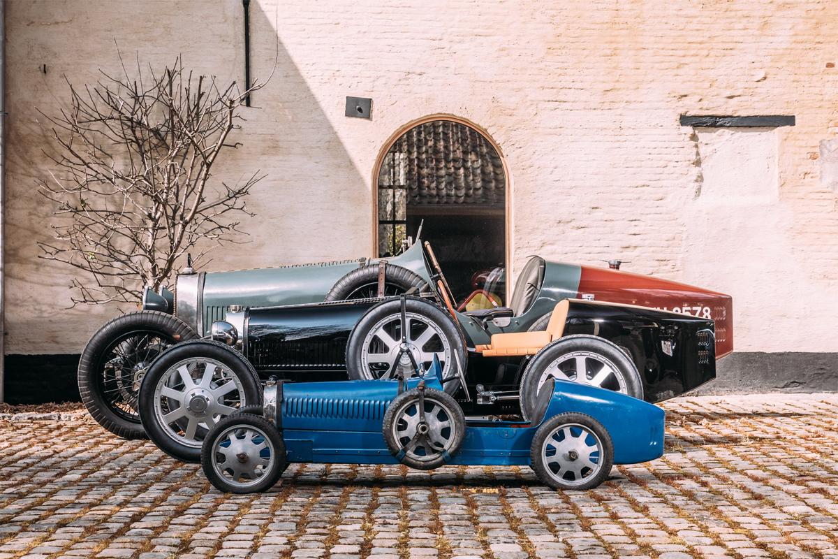 Phiên bản đồ chơi, phiên bản 75% và mẫu Type 35. Ảnh: Bugatti