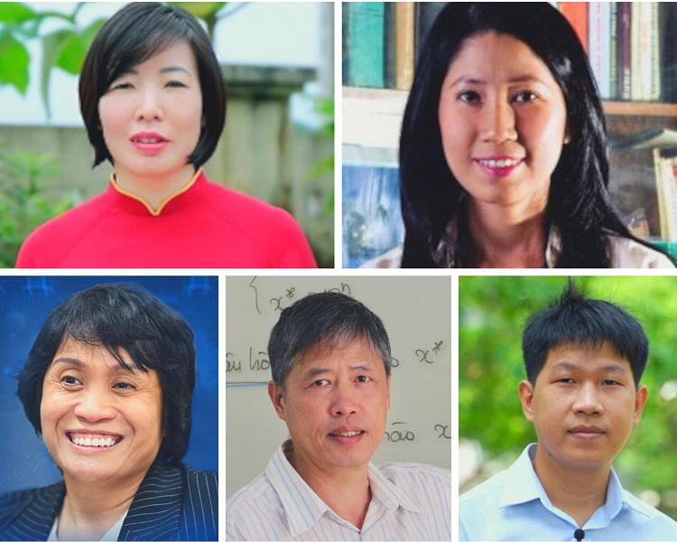 5 nhà khoa học Việt được vinhh danh trong danh sách 100 nhà khoa học châu Á. Ảnh: Asian Scientist.