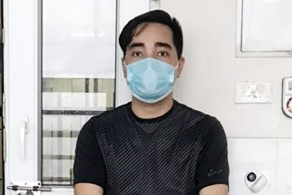 Đào Duy Tùng, bệnh nhân 3051 bị điều tra với cáo buộc nhập cảnh trái phép, không khai báo y tế, làm lây lan dịch bệnh truyền nhiễm nguy hiểm cho người. Ảnh: Công an Hải Dương