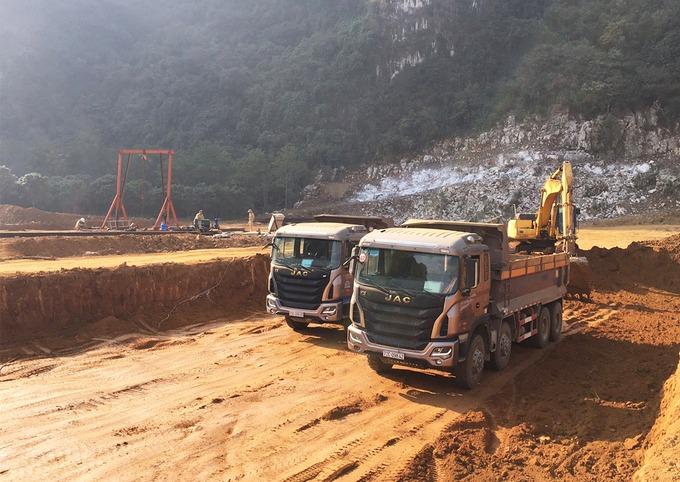 Cao tốc Diễn Châu - Bãi Vọt sẽ kết nối cao tốc Mai Sơn - Quốc lộ 45 (Thanh Hóa) đang triển khai. Ảnh: Anh Duy.