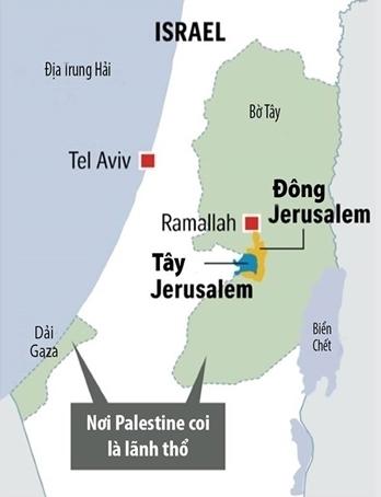 Vị trí Dải Gaza. Đồ họa: Straits Times.