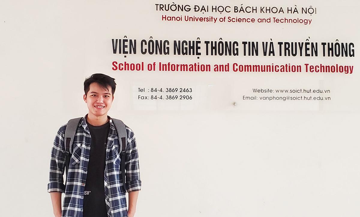 Trí là sinh viên ngành Công nghệ thông tin, Viện Công nghệ thông tin và truyền thông của Đại học Bách khoa Hà Nội. Ảnh: Nhân vật cung cấp.