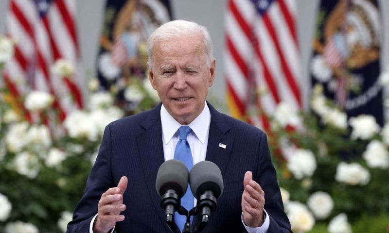 Tổng thống Mỹ Joe Biden phát biểu tại Nhà Trắng hôm 13/5. Ảnh: AFP.