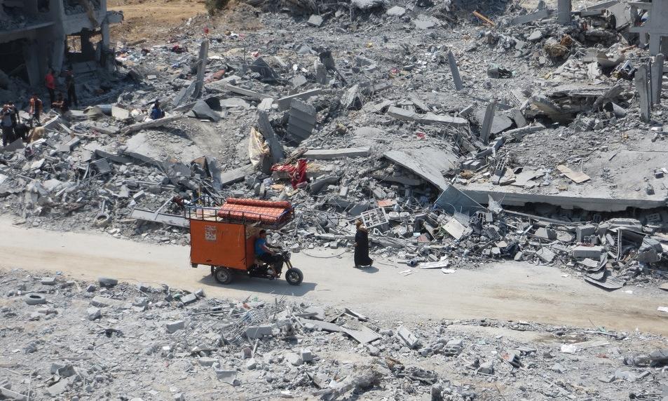 Một khu dân cư bị phá hủy ở phía bắc Dải Gaza trong chiến dịch của Israel. Ảnh: Muhammad Sabah.
