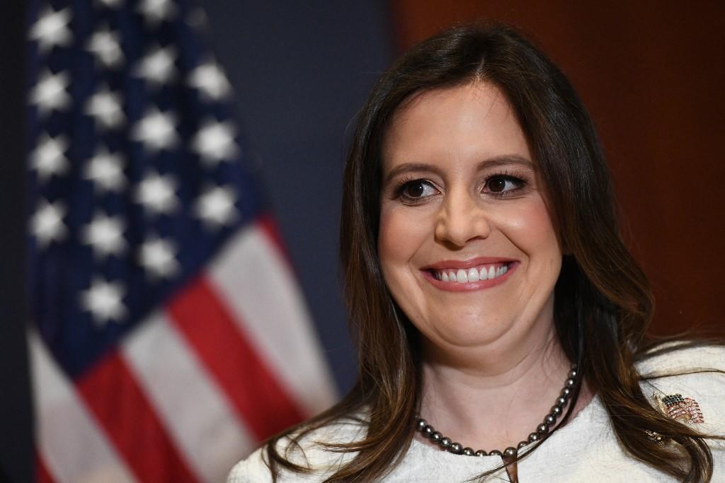 Nghị sĩ Elise Stefanik tại Đồi Capitol ngày 14/5. Ảnh: AFP.