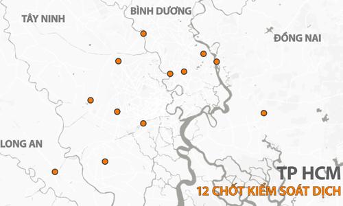 12 chốt kiểm dịch cửa ngõ Sài Gòn hoạt động