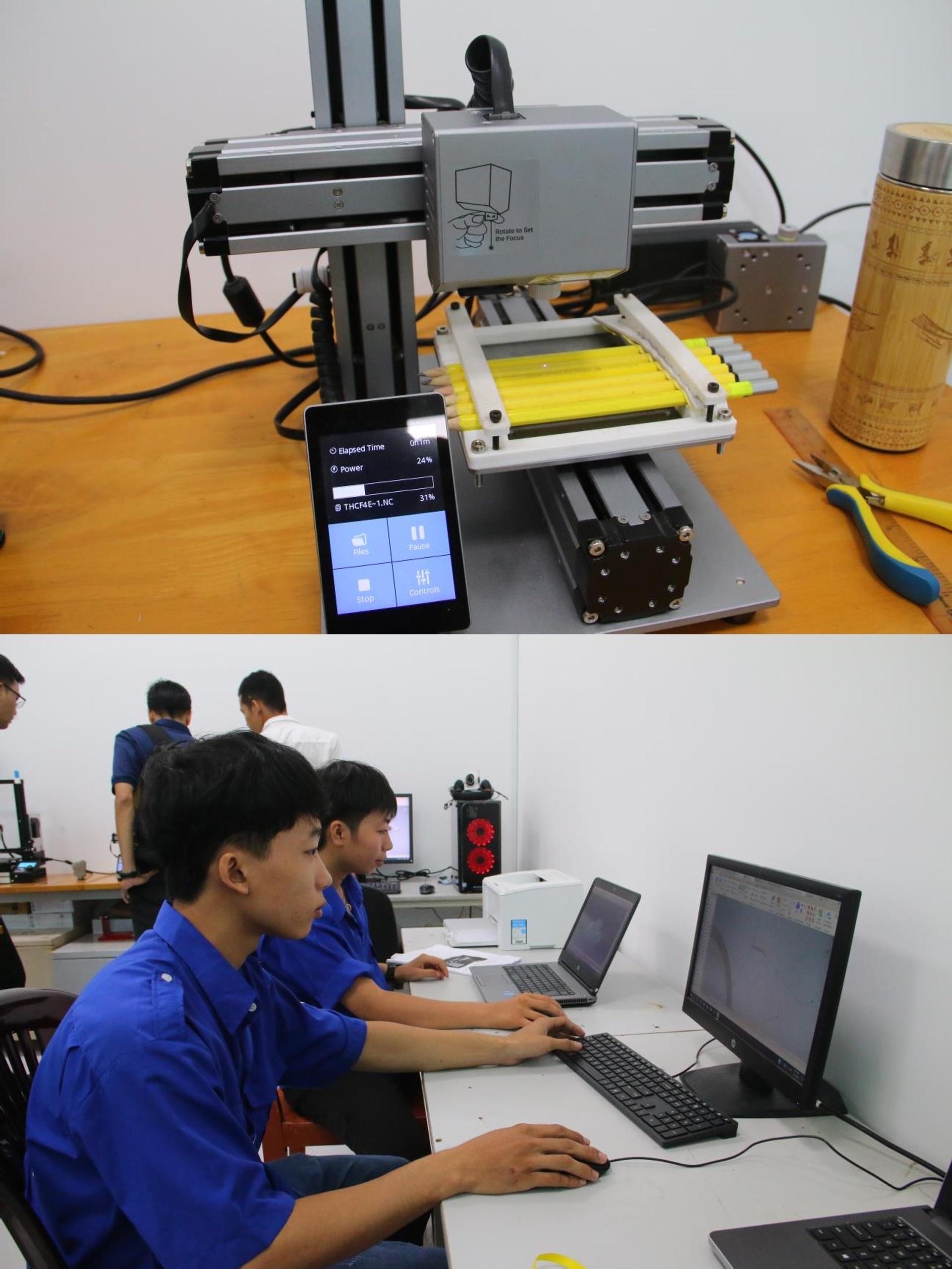 Máy in 3D - Sáng chế của sinh viên TVU.