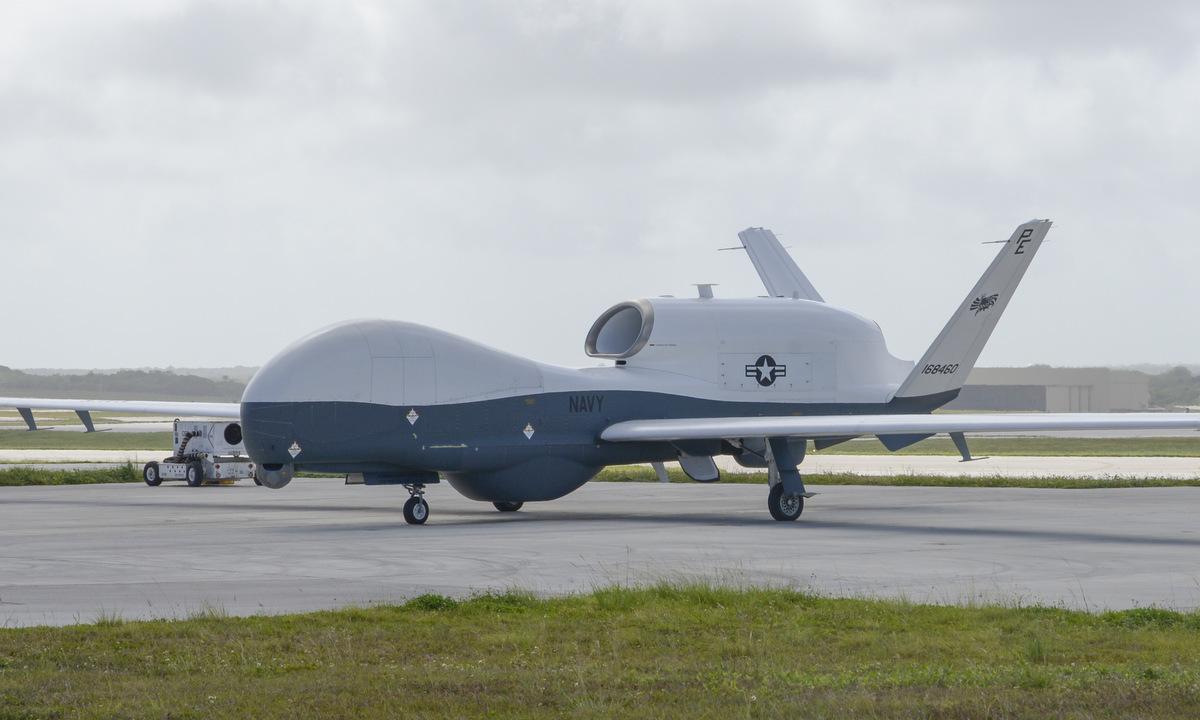 Một chiếc MQ-4C tại căn cứ trên đảo Guam hồi tháng 4/2020. Ảnh: US Navy.