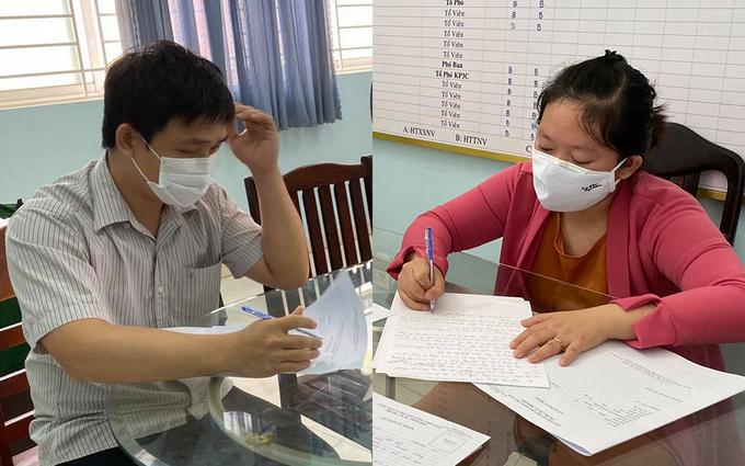 Vợ chồng Ngô Thị Thuý Kiều lập nhiều trang thu mua sổ bảo hiểm của công nhân ở Bình Dương, TP HCM bị C50 (Bộ Công an) triệu tập để điều tra hồi tháng 4/2020. Ảnh: Quốc Thắng.