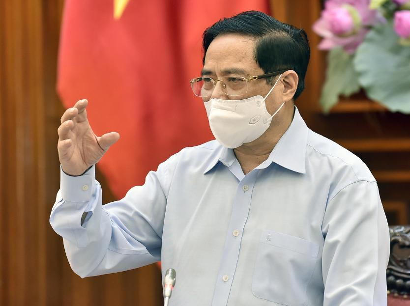 Thủ tướng Phạm Minh Chính chủ trì cuộc làm việc với Bộ Y tế, sáng 15/5. Ảnh: Nhật Bắc