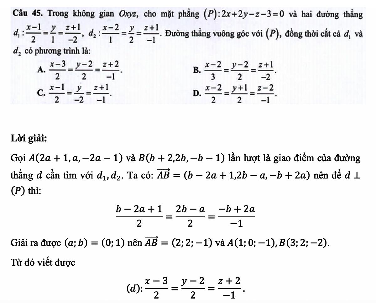 Lưu ý khi ôn tập hình học giải tích trong không gian - 1