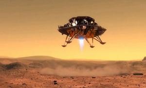 Khoảnh khắc tàu thăm dò Trung Quốc đáp xuống sao Hỏa