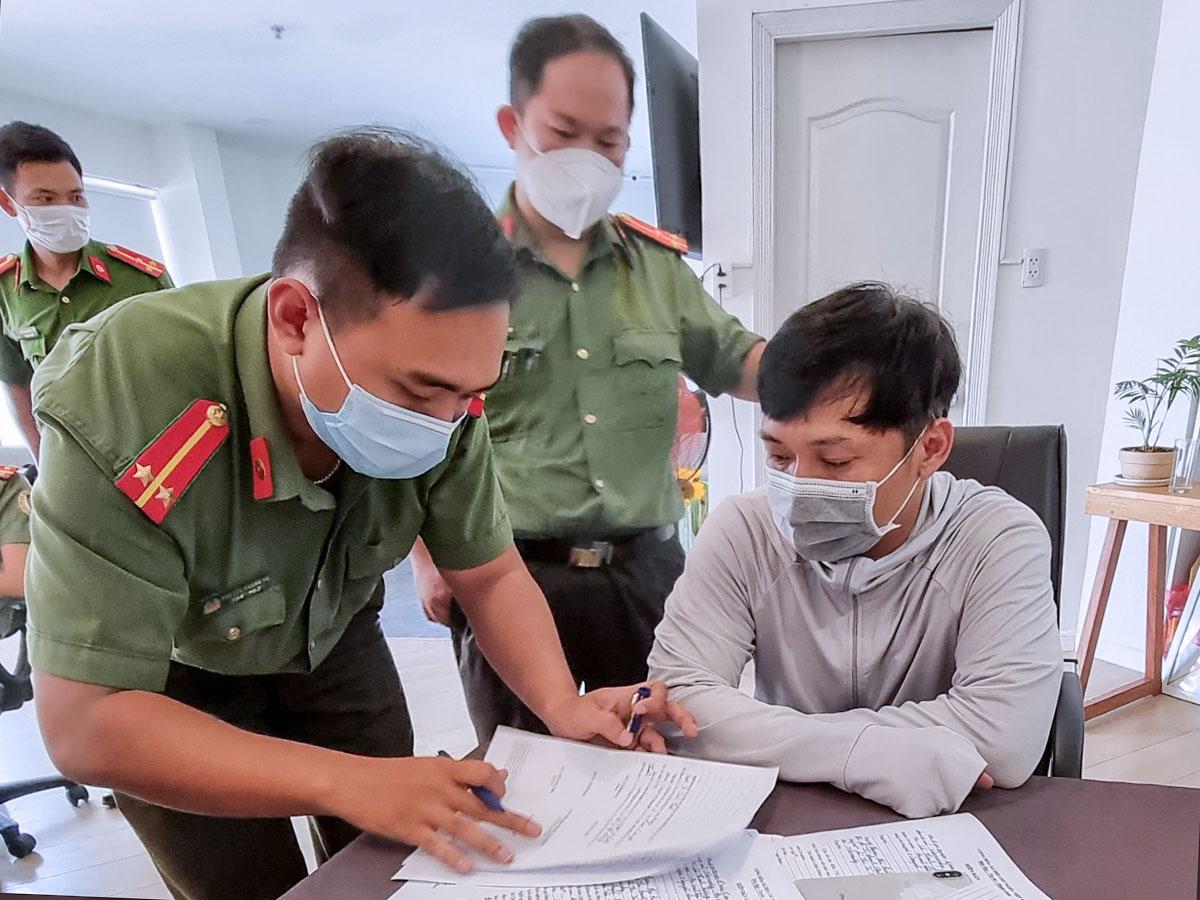Lê Xuân Thành bị bắt trưa 15/5. Ảnh: Khanh Thân.
