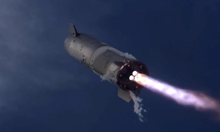 Mô phỏng tàu Starship cất cánh. Ảnh: Verge.