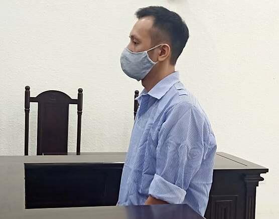 Bị cáo Phạm Cao Khương tại phiện xét xử ngày 18/5. Ảnh: Xuân Thuỷ