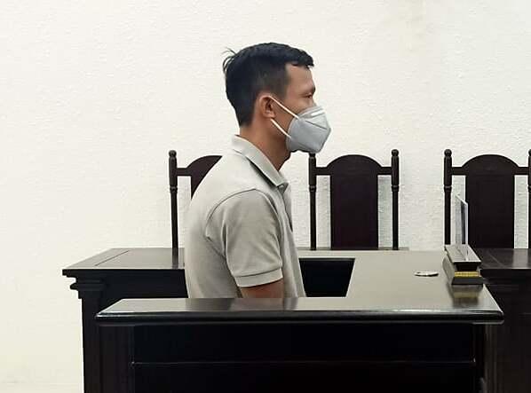Bị cáo Trần Đình Quang tại phiên xét xử ngày 18/5. Ảnh: Xuân Thuỷ