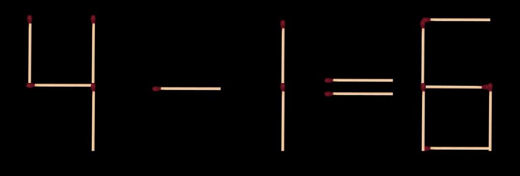 Bốn câu đố di chuyển que diêm - 1