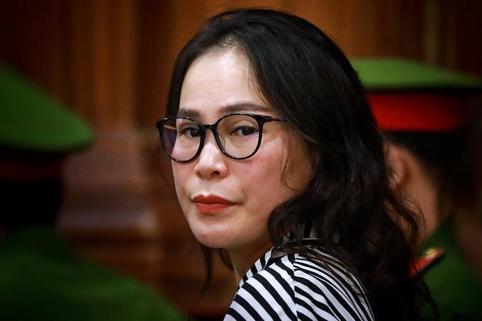 Bị cáo Lê Thị Thanh Thúy lần ra tòa năm ngoái. Ảnh: Hữu Khoa.