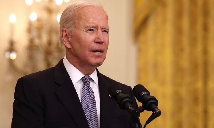 Tổng thống Mỹ Joe Biden phát biểu tại Nhà Trắng hôm 17/5. Ảnh: AFP.
