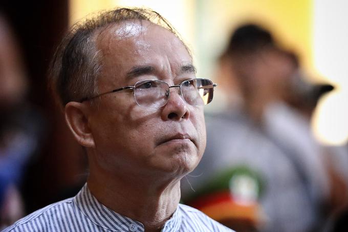 Ông Nguyễn Thành Tài tại phiên xử sơ thẩm hồi năm ngoái. Ảnh: Hữu Khoa.