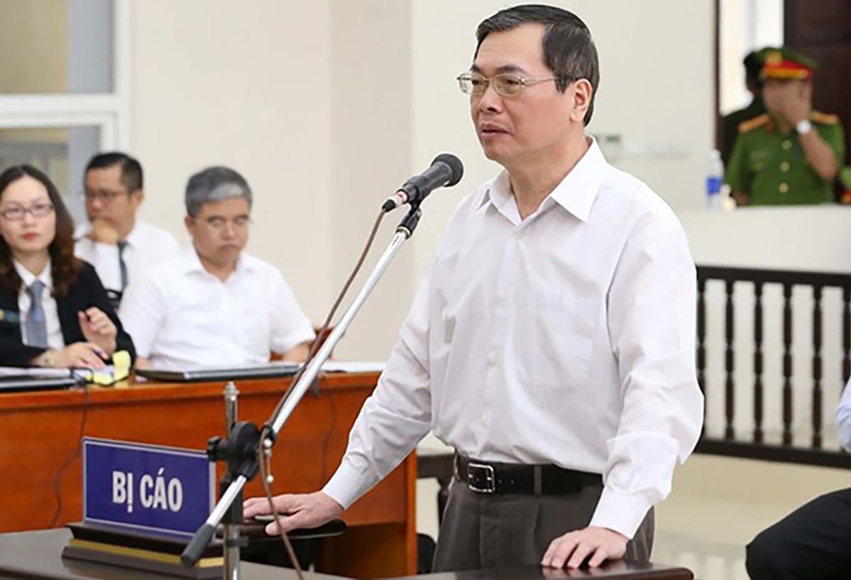Ông Vũ Huy Hoàng tại toà sơ thẩm. Ảnh: TTXVN.