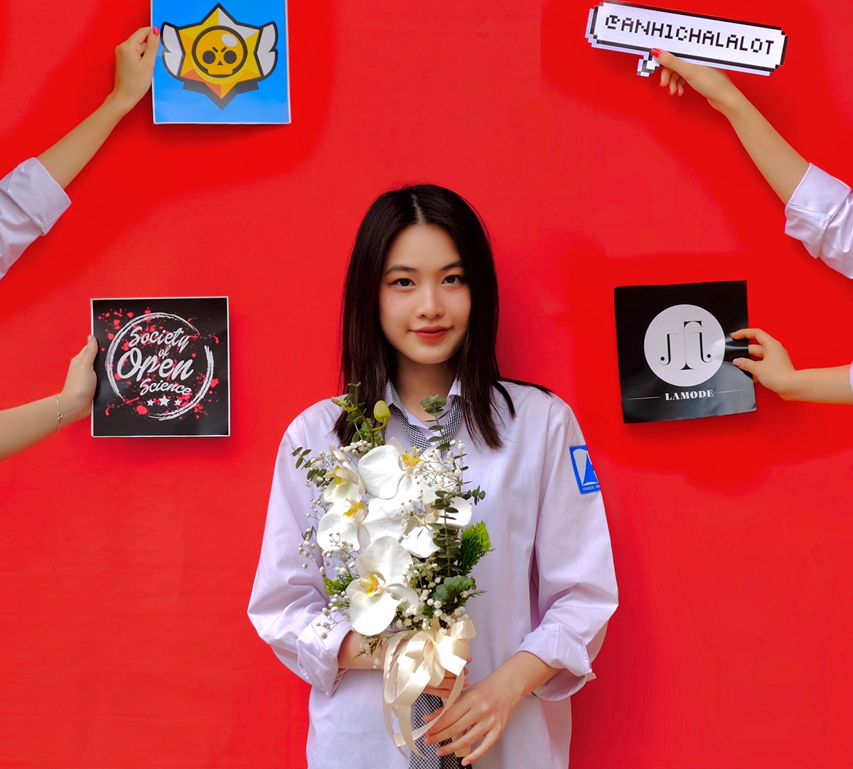 Nguyễn Yến Lan là học sinh lớp 12 Anh 1 trường THPT chuyên Hà Nội - Amsterdam. Ảnh: Nhân vật cung cấp.