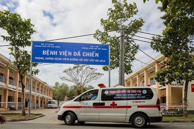 Bệnh viện dã chiến Củ Chi hoạt động từ 10/2/2020, quy mô 300 giường bệnh. Ảnh: Quỳnh Trần.