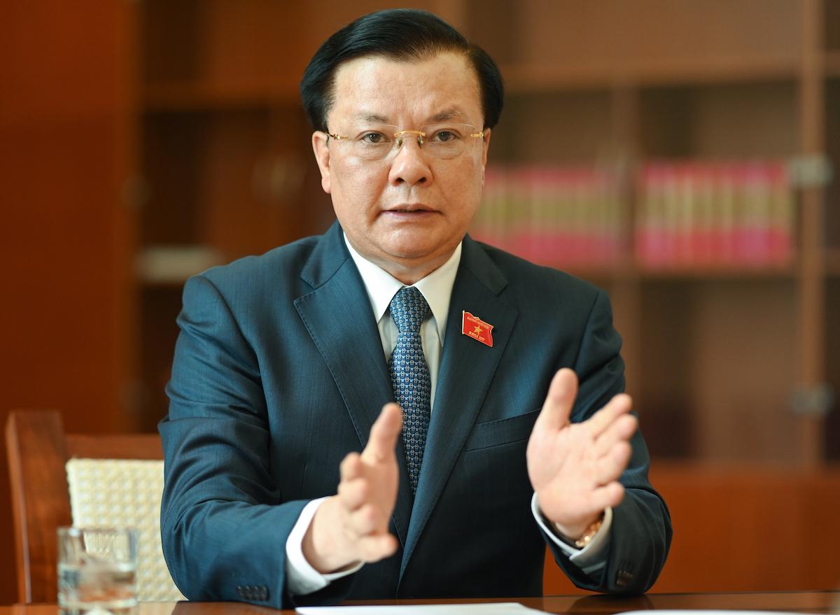 Bí thư Thành ủy Hà Nội Đinh Tiến Dũng. Ảnh: Hoàng Phong