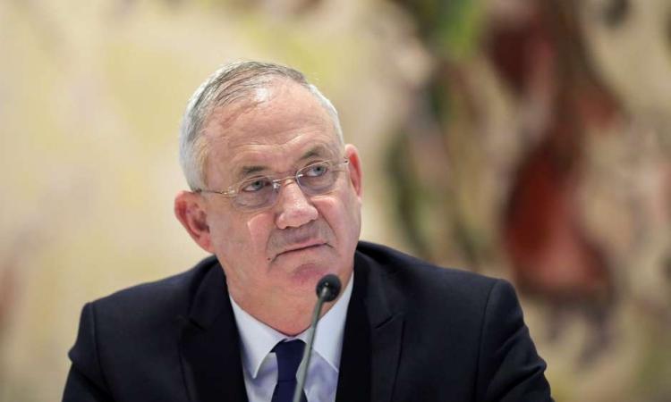 Bộ trưởng Quốc phòng Israel Benny Gantz tham dự cuộc họp nội các ở Jerusalem hồi tháng 5/2020. Ảnh: Reuters.