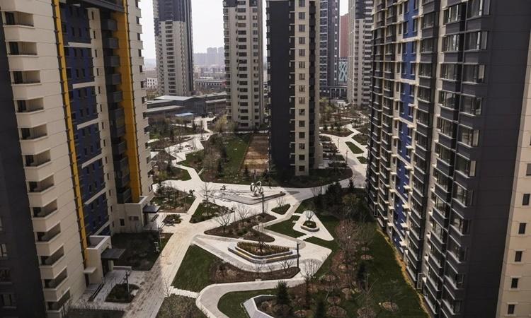 Khu tổ hợp dân cư Singapore City thuộc thành phố Đan Đông, Trung Quốc. Ảnh: Reuters.